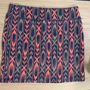 Women's Tribal Print Mini Skirt Size M